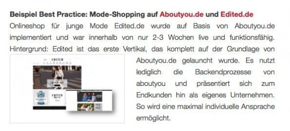 Das Benchmarktool veranschaulicht Kriterien mit einer Verknüpfung zu Praxisbeispielen. (Screenshot: Kassenzone.de)