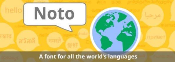 Noto: Die Fontfamilie unterstützt viele Sprachen der Welt. (Grafik: Google)
