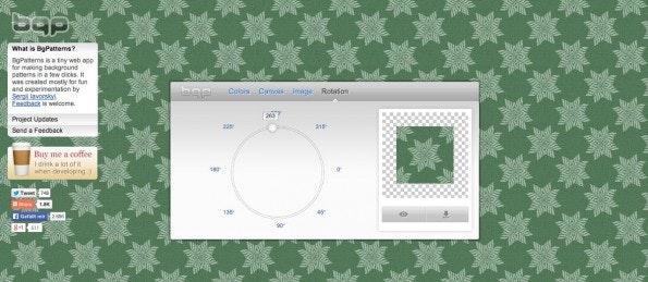 BGPattern ist ein praktischer Pattern-Generator. (Screenshot: BGPattern)
