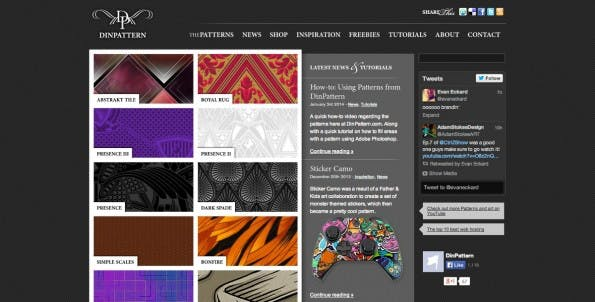 Dinpattern ist eine weitere gute Anlaufstelle für kostenlose Pattern. (Screenshot: Dinpattern)