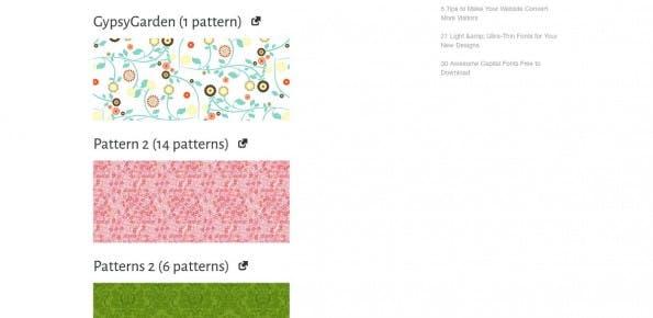 Webdesignledger bietet eine nette Sammlung von kostenlosen Patterns. (Screenshot: Webdesignledger)