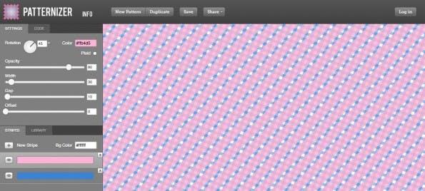 Mit dem Patternizer erstellt ihr schicke CSS3-Pattern. (Screenshot: Patternizer)