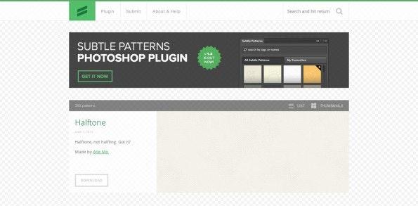 Subtle Pattern ist eine gute Quelle für kostenfreie Muster. (Screenshot: Subtle Patterns)