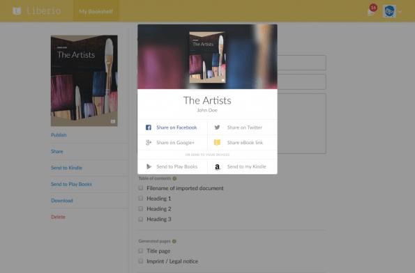 Schon bald soll auch die kommerzielle Veröffentlichung von E-Books über Liberio möglich sein. Dazu sieht man unter anderem einen In-App-Kauf einer ISBN vor. (Screenshot: Liberio)