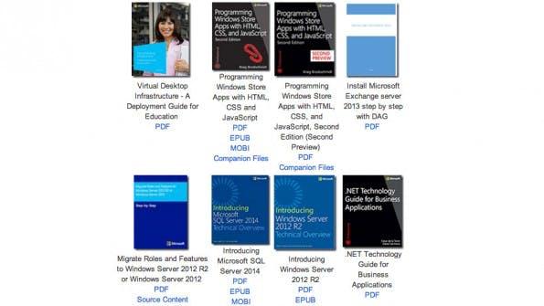 Microsoft hat 130 kostenlose E-Books und Dokumente veröffentlicht. (Screenshot: Microsoft)