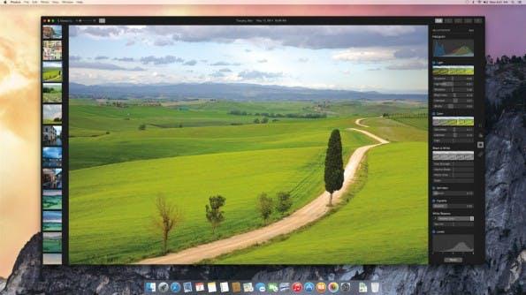 Ein offizieller Screenshot zeigt bereits einige Profi-Funktionen in Photos. (Bild: Apple)