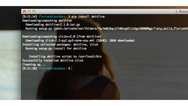 doitlive: Die Installation ist in Sekunden erledigt. (Screenshot: t3n)
