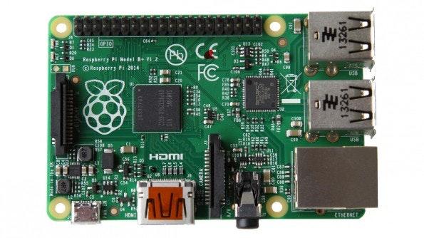 Raspberry Pi Model B+: Die Neuauflage wurde nur leicht verändert. (Foto: Raspberry Pi Foundation)