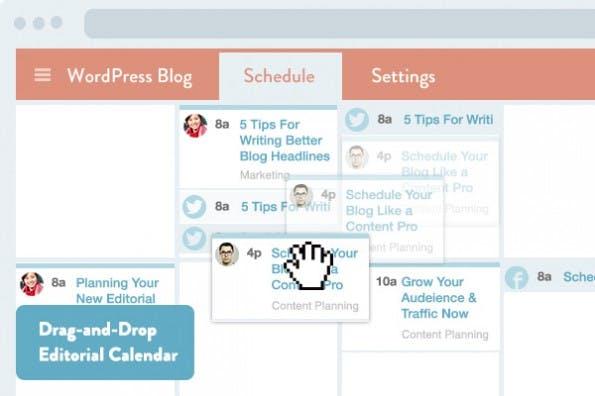 Content Marketing: Mit CoSchedule plant ihr Artikel und die Verteilung über die sozialen Netzwerke direkt im WordPress-Backend. (Screenshot: CoSchedule)