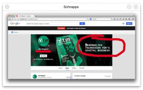 Schnapps: Mit dem Tool für Designer lassen sich Veränderungen an Bildern leicht dokumentieren. (Screenshot: Schnapps)