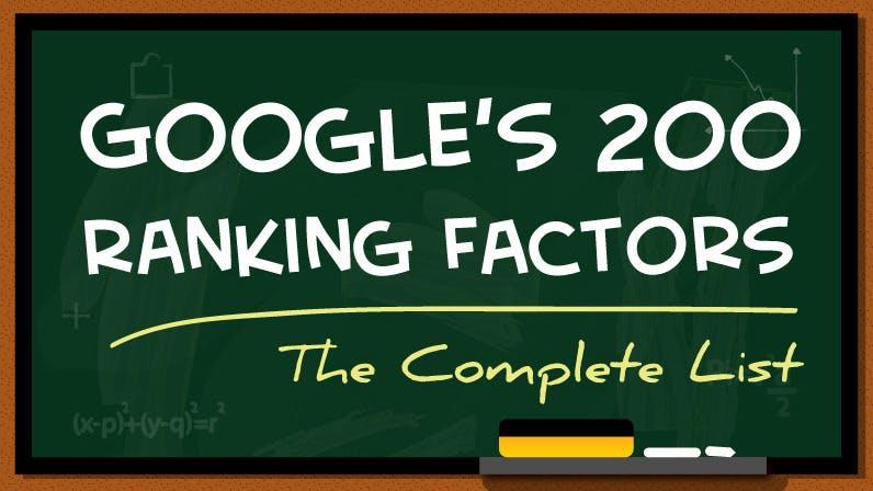 Praktische SEO-Hilfe: Diese 200 Faktoren haben Einfluss auf euer Google-Ranking [Infografik]