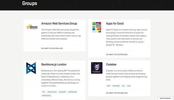 Skills Matter bietet Kurse, Konferenzen und eine Online-Community für Entwickler. (Screenshot: Skills Matters)