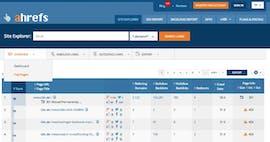 Die wichtigsten Unterseiten deiner Konkurrenz im Überblick. (Screenshot: ahrefs.com)