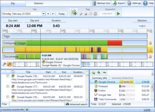 Die Zeiterfassung ManicTime bietet umfangreiche Features. (Bild: ManicTime)