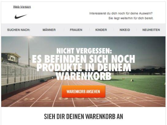 Nike. (Quelle: Online Marketing Rockstars)