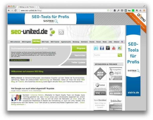 (Screenshot: SEO-United.de)