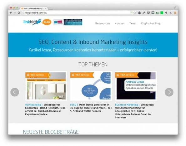 (Screenshot: Linkbird.com)