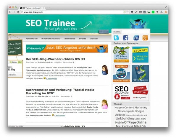 (Screenshot: SEO-Trainee.de)