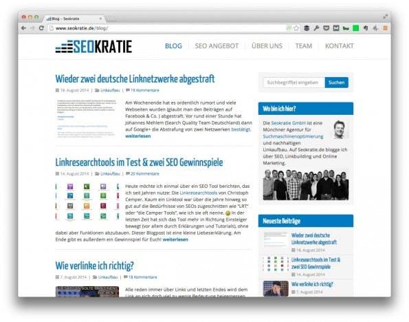 (Screenshot: Seokratie.de)