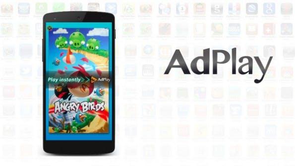 Mit AdPlay lassen sich Spiele und andere Apps direkt und ohne Download testen. (Screenshot: VMFive)