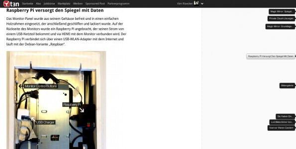 Mit dieser Chrome-Erweiterung navigiert ihr schnell durch lange Artikel. (Screenshot: t3n)