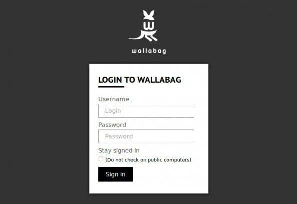 Wallabag: Das Känguruh für deine Bookmarks. (Screenshot: Wallabag)