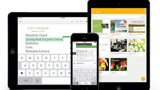 Google Docs, Tabellen und Présentations: Großes iOS-Update sagt Apple und Microsoft den Kampf an