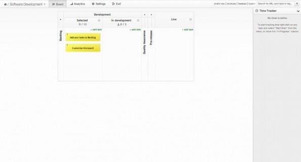 Kanban Tool eignet sich zum Projekt- und zum Prozess-Management. (Screenshot: Kanban Tool)