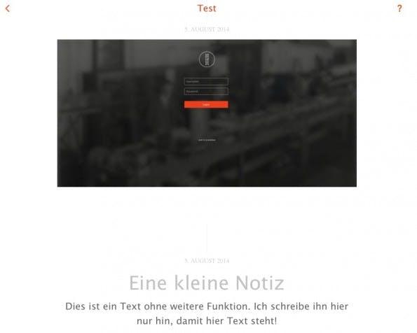 """So sieht der """"Feed"""" in einem Projekt aus. (Screenshot: Eigene Nemex-Installation)"""