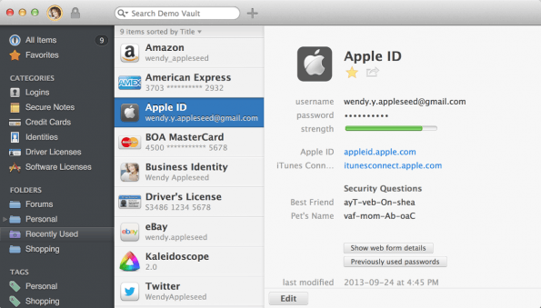 """Die Macher bezeichnen 1Password als den """"Heiligen Gral"""" der Passwort-Manager. (Screenshot: 1Password)"""