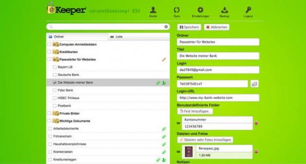 Der Passwort-Manager Keeper fährt mit einer 256-Bit AES-Verschlüsselung auf. (Screenshot: Keeper)