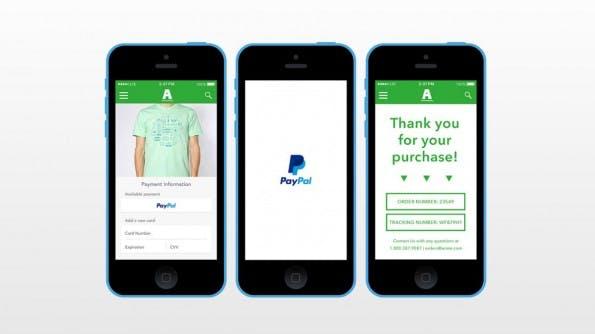 Der One Touch-Knopf integriert PayPal als Zahlungsmethode, ohne dafür die Login-Daten manuell abzufragen. (Bild: Braintree)