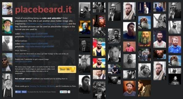 Der vermutlich männlichste Platzhalter. (Screenshot: placebeard.it)