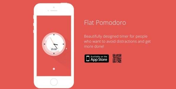 Flat Pomodoro begeistert durch das schicke Design der App. (Screenshot: Flat Pomodoro)