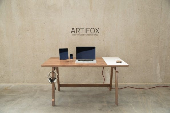 Der Artifox: Viele Möglichkeiten versteckt in einem kleinen Tisch. (Foto: Artifox)