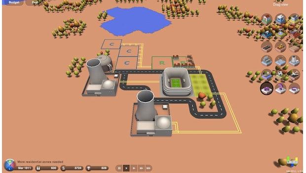 3d.city: Der Sim-City-Klon setzt auf Three.js und Sea3d. (Screenshot: 3d.city)