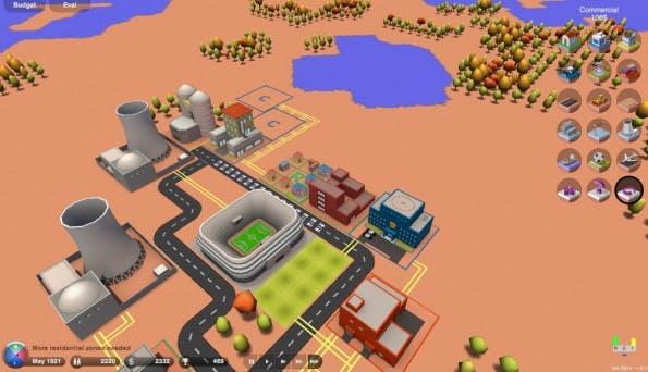 Sim-City-Kopie: 3d.city bietet eine schicke 3D-Ansicht eurer virtuellen Stadt. (Screenshot: 3d.city)