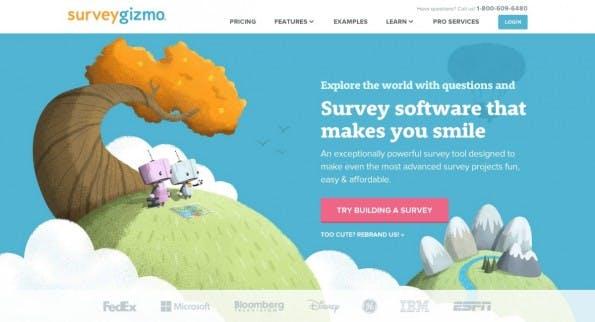 Spaß bei der Sache darf laut SurveyGizmo auch bei Umfragen nicht fehlen. Das hat sich das Team auf die Fahne geschrieben und viele Features dazugepackt- (Screenshot: surveygizmo.com)