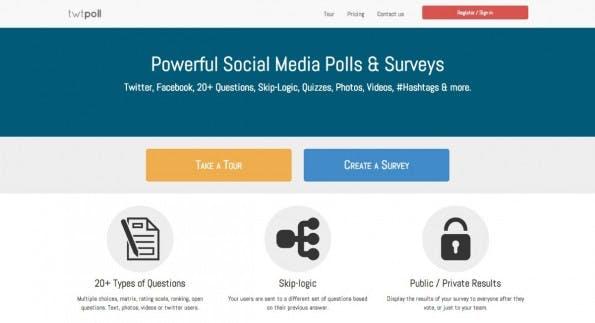Umfragen mit Authentifizierung per Twitter, Facebook oder die IP-Adresse: Twtpoll macht's möglich. (Screenshot: twtpoll.com)
