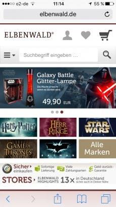 (Screenshot: Elbenwald.de)