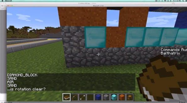 Mini-Game-Programmierung für Minecraft (Screenshot: LearnToMod via YouTube-Video)