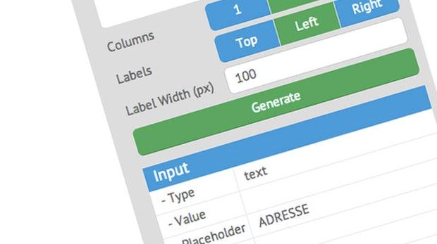 Nie wieder Formulare von Hand coden: Webix-Form-Builder will die Webentwicklung vereinfachen
