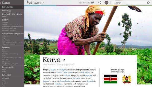WikiWand: So schön kann Wikipedia aussehen. (Screenshot: WikiWand)