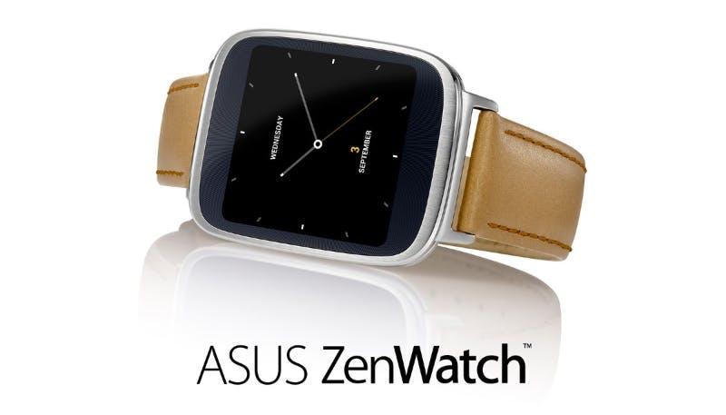 Asus ZenWatch: Schicke Android-Smartwatch aus Stahl und Leder für 200 Euro