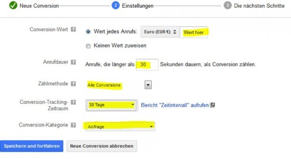 Google AdWords: So funktionieren die Call-Conversions. (Quelle: Sumago)