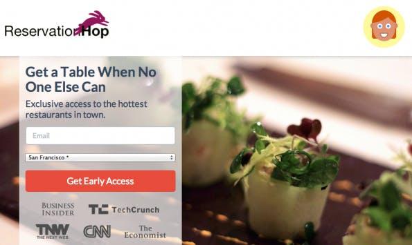 Highly debated in Silicon Valley: Ist ReservationHop clever oder einfach nur dreist? (Screenshot: ReservationHop)