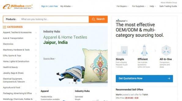 (Screenshot: Alibaba.com)
