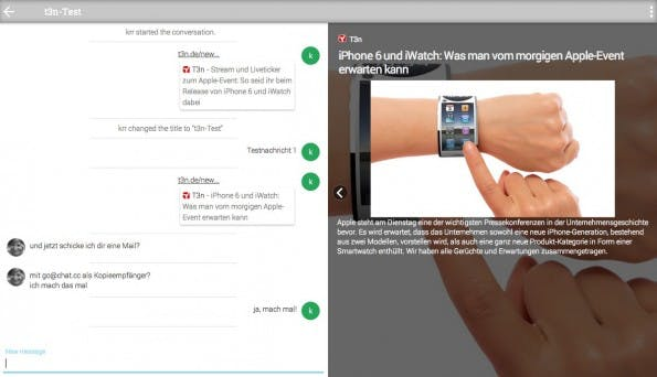 Chat.cc: Um mit jemandem zu chatten müsst ihr nur eine E-Mail versenden. (Screenshot: Chat.cc)