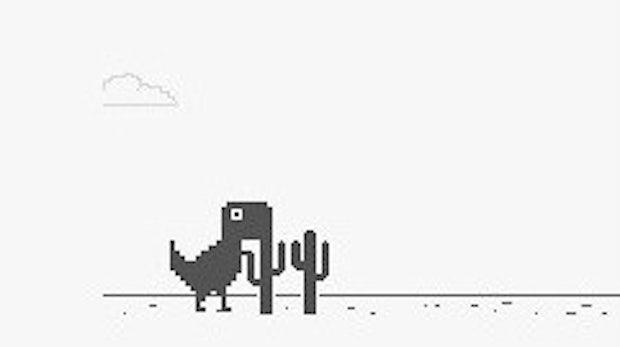 Google-Easteregg: Chrome versüßt Offline-Modus mit knuddeligem Game