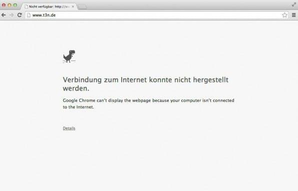 Man würde auf der Fehlerseite von Chrome kein Google-Easteregg vermuten.
